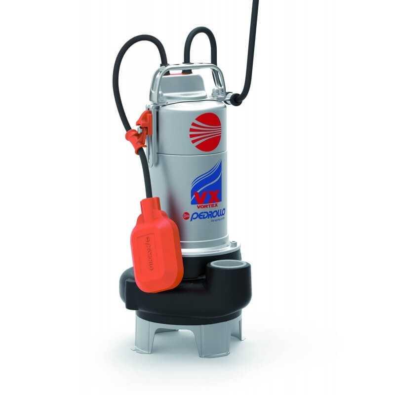 """Bomba de Agua Sumergible 2"""" 1HP VXM10/50-N Para Agua Sucia y cargada Pedrollo 100553"""