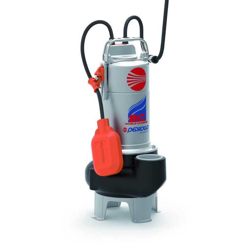 "Bomba de Agua Sumergible 2"" 1.5HP BCM15/50-N Para Agua Sucia y Cargadas Pedrollo 103187"