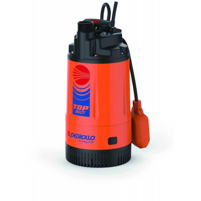 """Bomba de Agua Sumergible 1-1/4"""" 0.75 HP TOP MULTI II Para Agua Limpia Pedrollo 102107"""