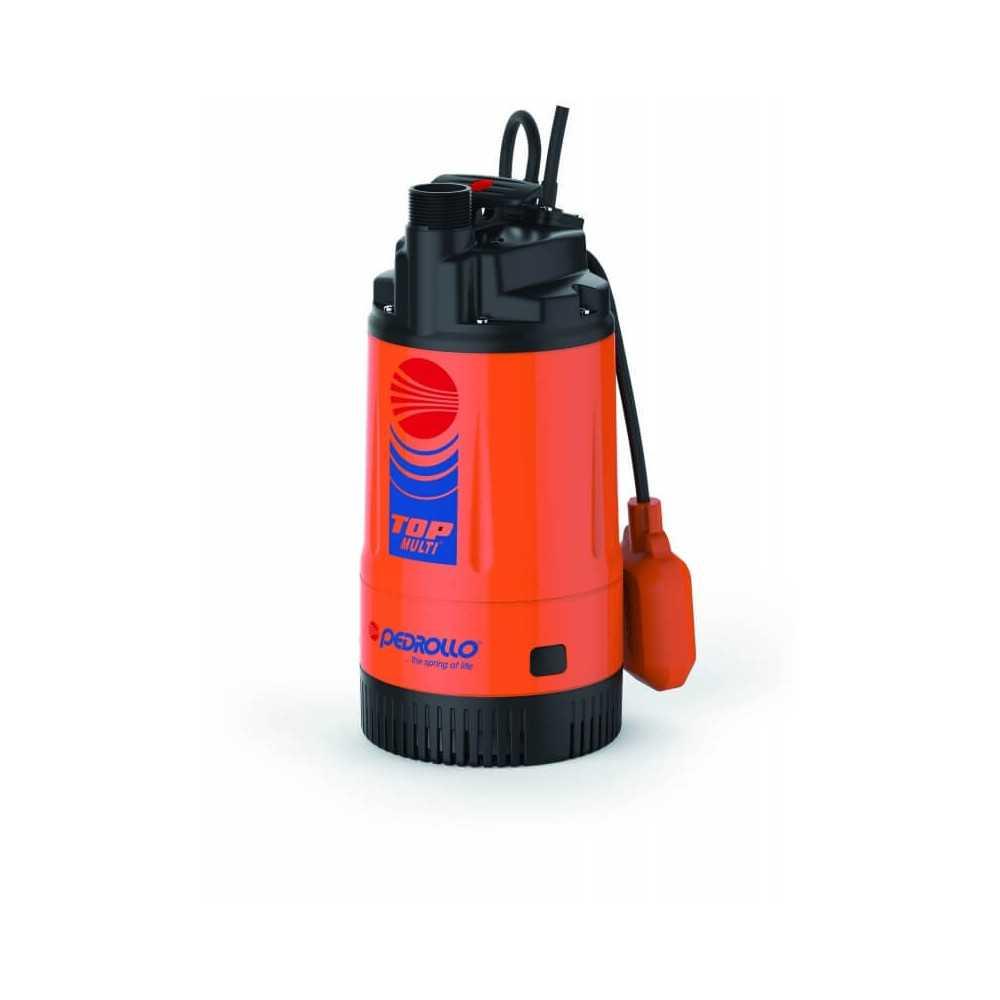 "Bomba de Agua Sumergible 1-1/4"" 0.75HP TOP MULTI III Para Agua Limpia Pedrollo 104464"