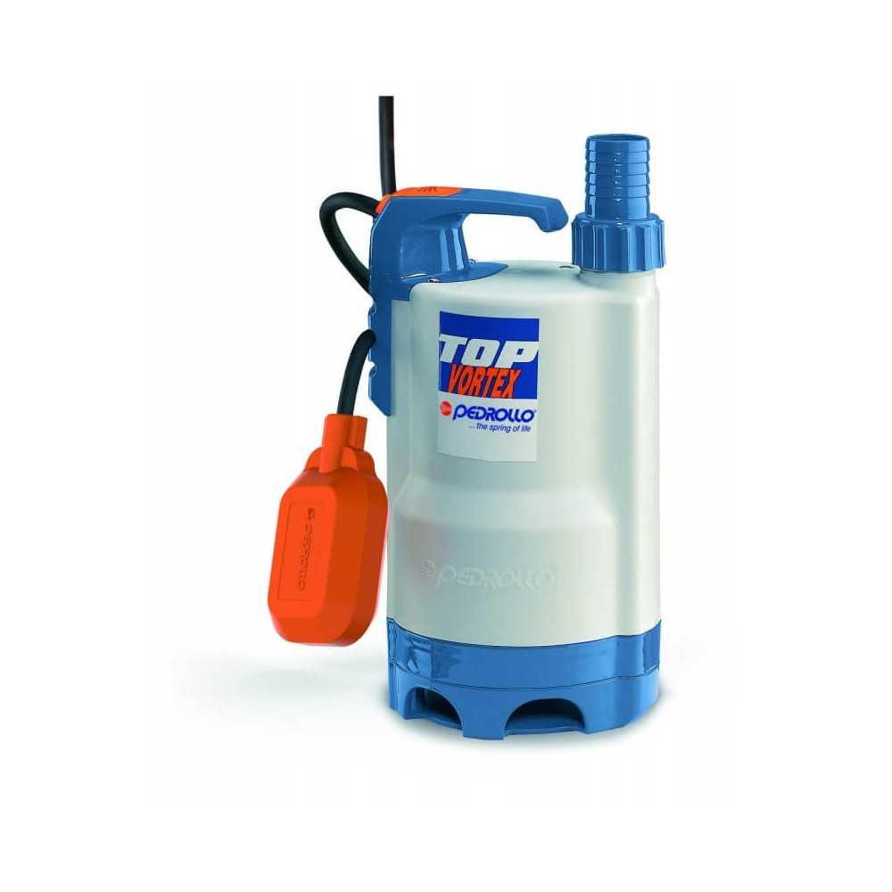 """Bomba de Agua Sumergible 1-1/4"""" 0.5 HP TOP VORTEX Para Agua Sucia Pedrollo 100548"""