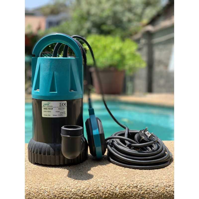 "Bomba de Agua Sumergible 1""x1-1/4"" 1HP XKS-751P Para Agua Limpia Leo 103999"
