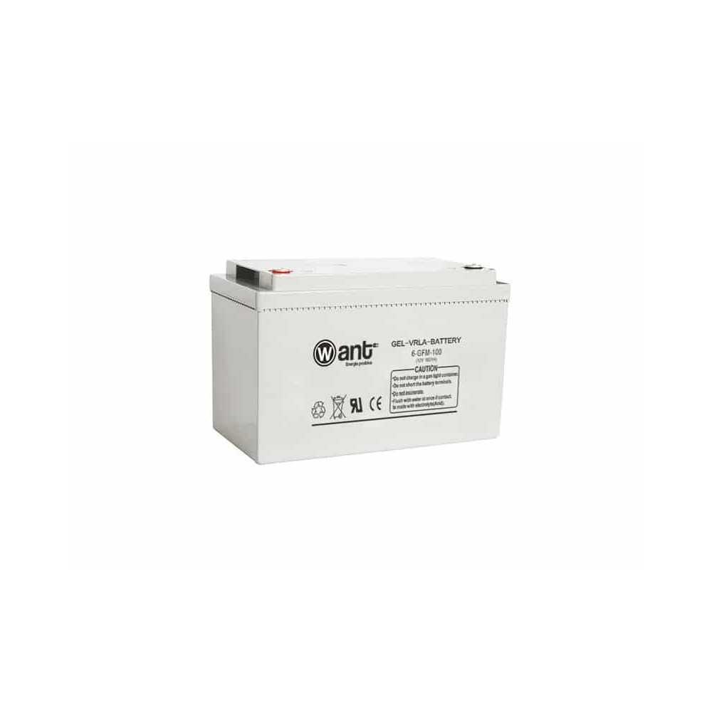 Batería de Gel 100AH 12V GFM Want Energia 34949