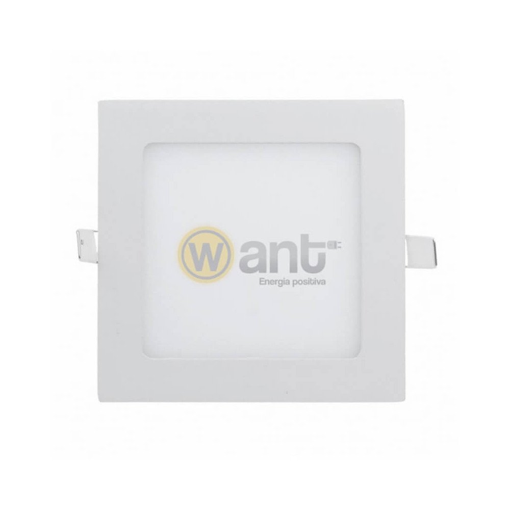 Panel Led Embutido Cuadrado 3W 3000K 85x85x21mm Luz cálida Want Energia 34153