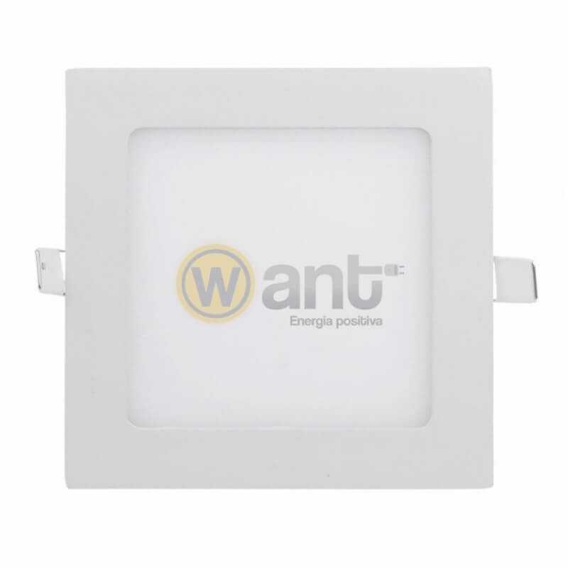 Panel Led Embutido Cuadrado 6W 6500K 120x120x25mm Luz fría Want Energia 34150