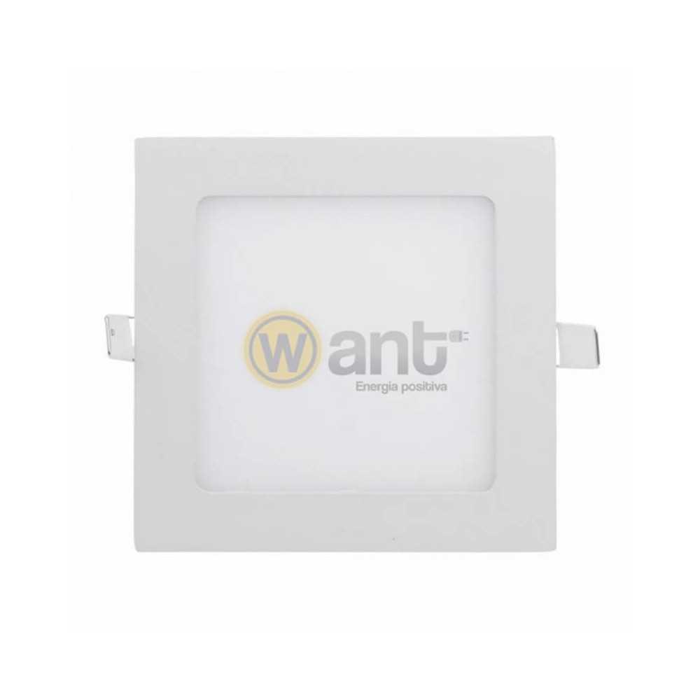 Panel Led Embutido Cuadrado 6W 3000K 120x120x25mm Luz cálida Want Energia 34154