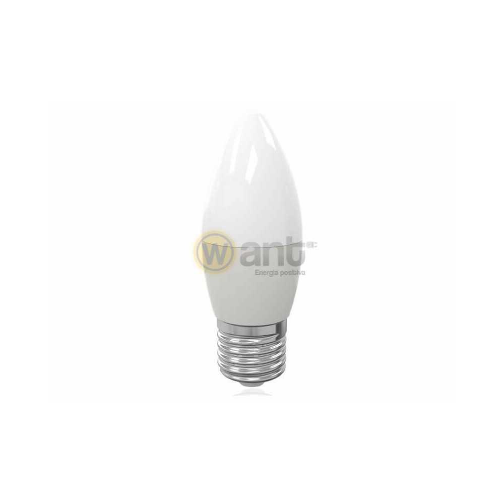 Ampolleta Led Vela Empavonados E27 5W Luz cálida 3000K Want Energia 34120