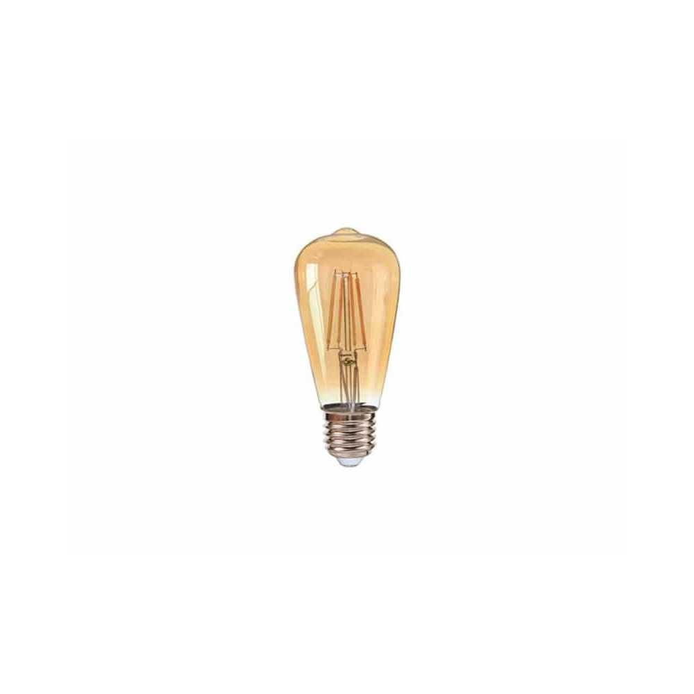 Ampolleta Led ST64 Filamentos E27 8W Luz Cálida Want Energia 35066
