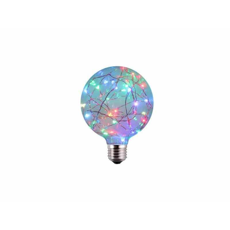 Ampolleta Led E27 Decorativa G95 1.7W RGB Want Energia 35055