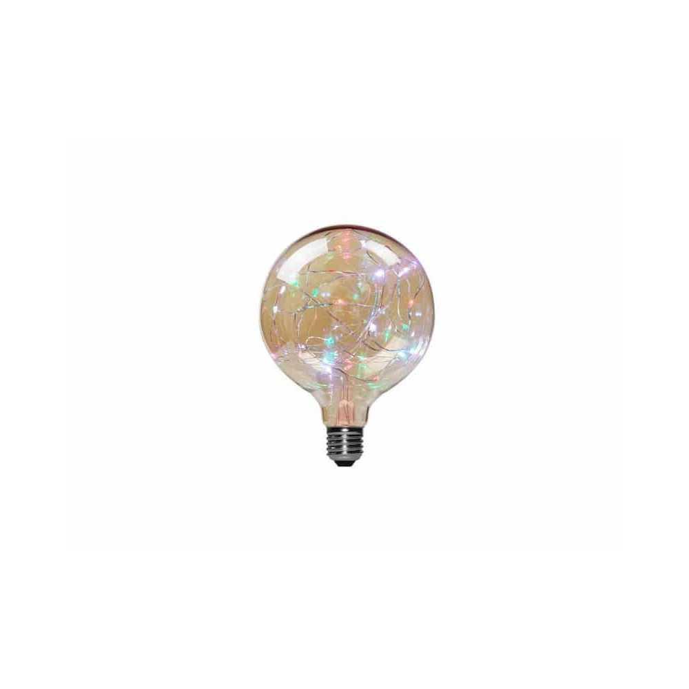 Ampolleta Led E27 Decorativa G125 1.7W RGB Want Energia 35056