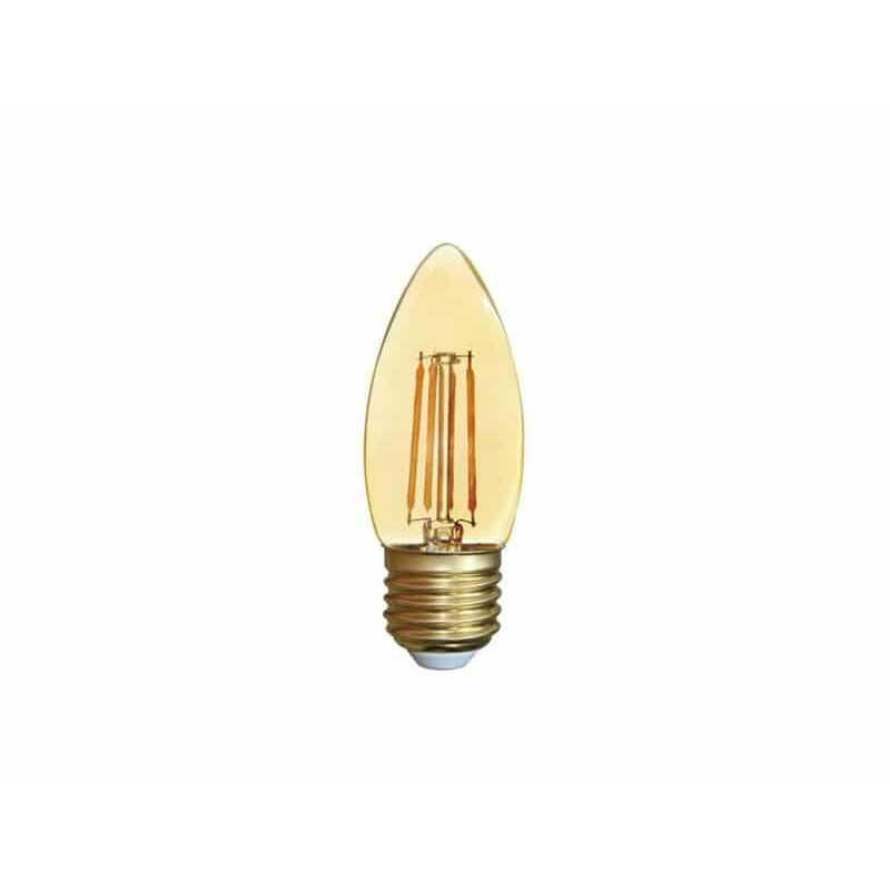 Ampolleta Led C37 Vela Filamento E27 2W Luz cálida Want Energia 35036