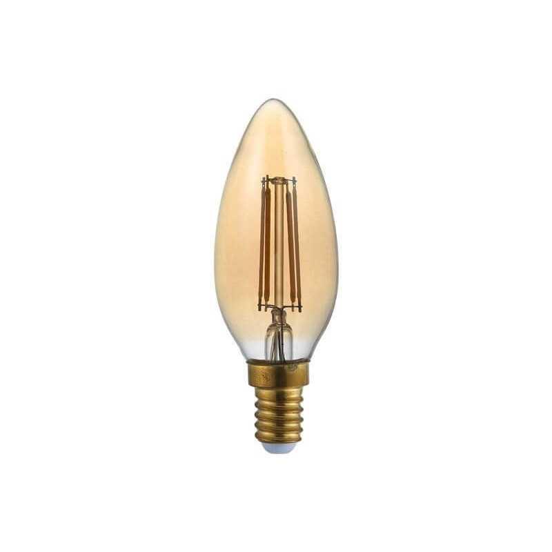 Ampolleta Led C37 Vela Filamentos E14 2W Luz Cálida Want Energia 35037