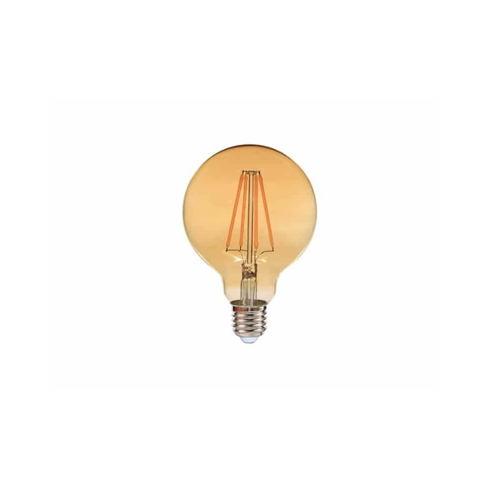 Ampolleta Led Filamento G80 E27 8W Luz cálida Want Energia 35043