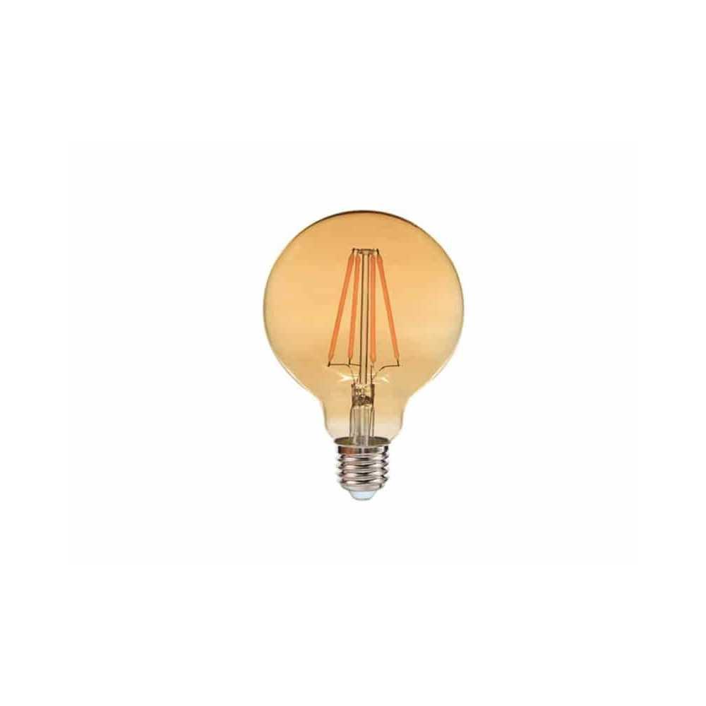 Ampolleta Led Filamento G125 E27 8W Luz cálida Want Energia 35045