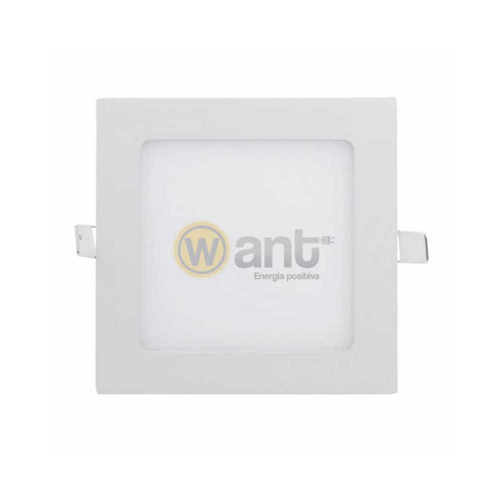 Panel Led Embutido Cuadrado 12W 6500K 170x170x25MM Luz Fría Want Energia 34151