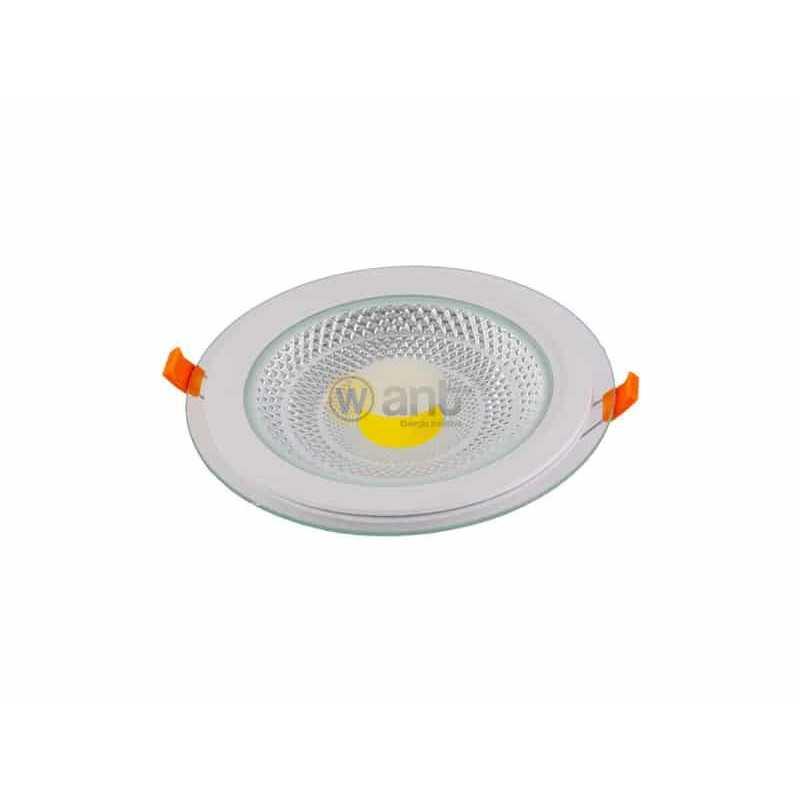 Panel Led Embutido Redondo de Vidrio 12W 6500K 160x35MM Luz Fría Want Energia 35007