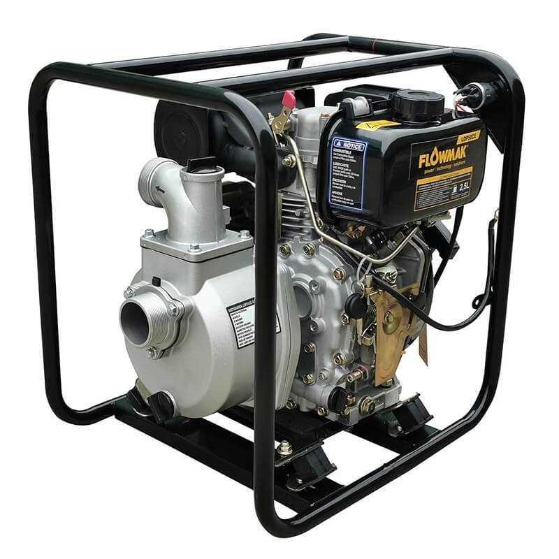 """Motobomba 2""""x2"""" a Diésel 500 L/Min 3.4HP LDP50CE Flowmak 109234"""