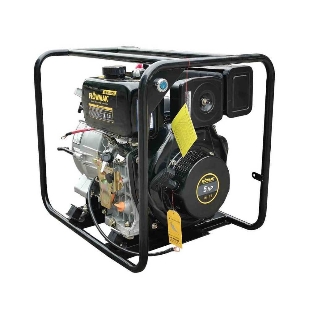 "Motobomba Diesel Trash 3""x3"" 1083 L/Min 5HP LDWT80CE Flowmak 109238"