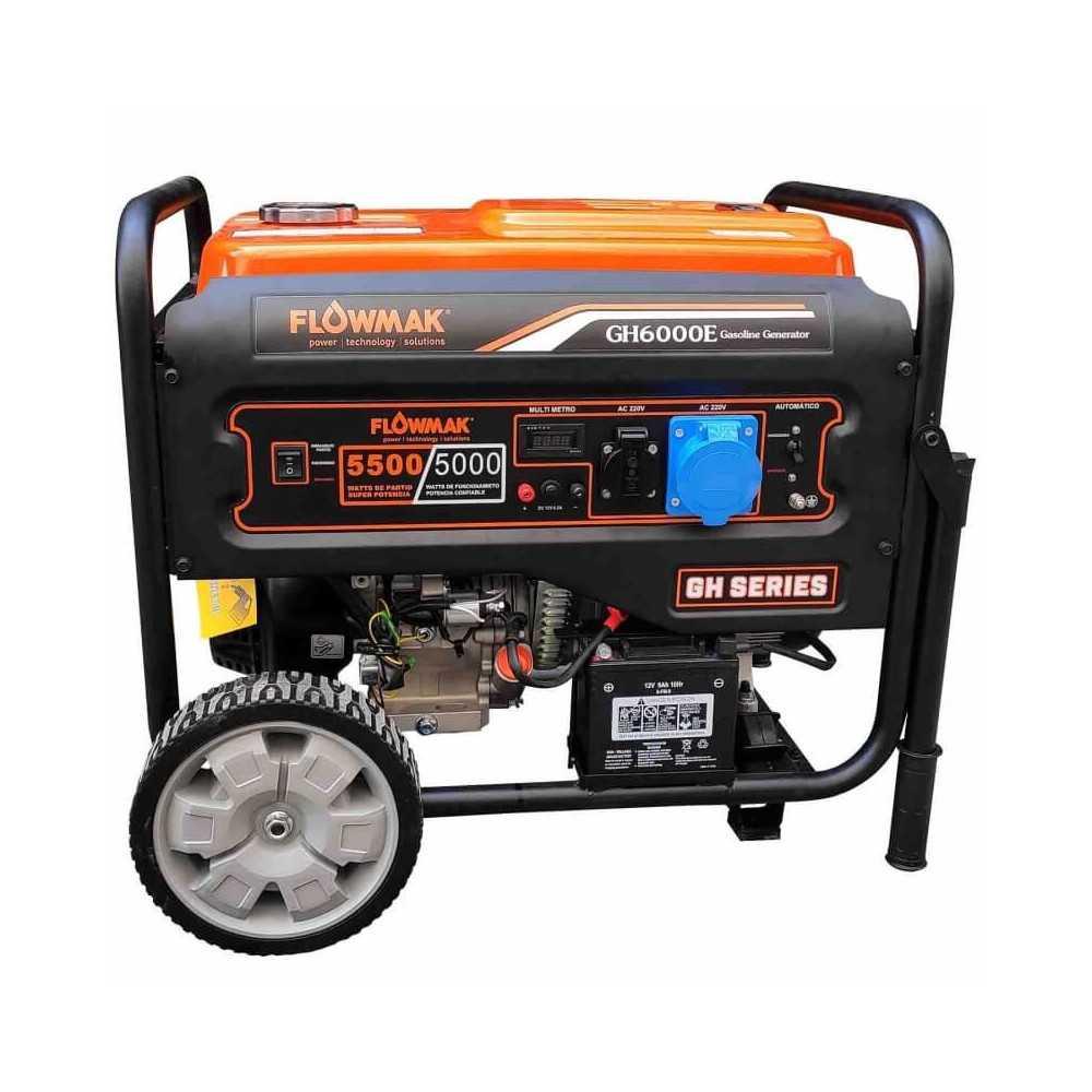 Generador Eléctrico Gasolina 220V 5000W GH6000E Flowmak 109255