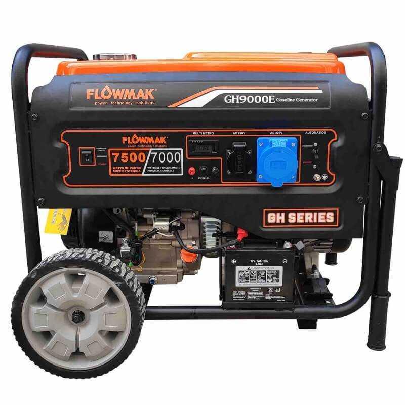Generador Eléctrico Gasolina 220V 7000W GH9000E Flowmak 109257