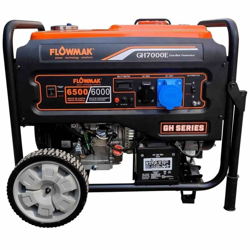 Generador Eléctrico Gasolina 220V 6000W GH7000E Flowmak 109256