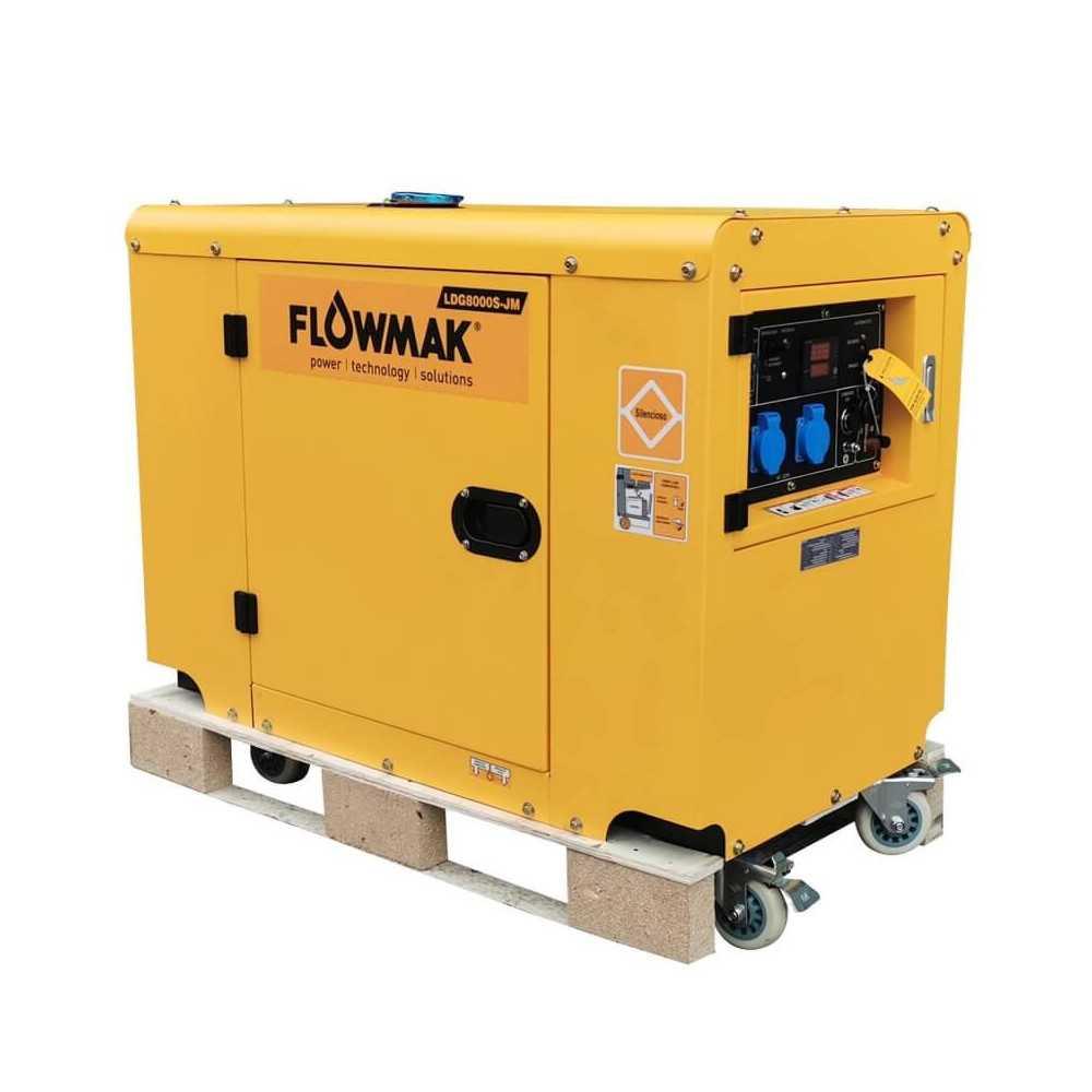 Generador Eléctrico Diésel ATS 220V 6000W LSG8000S Flowmak 109242
