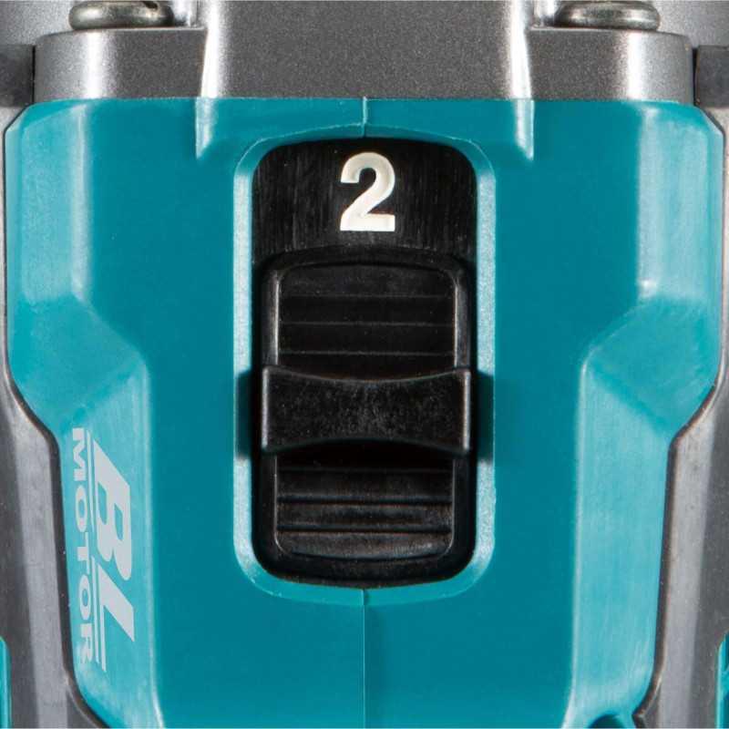 Taladro Atornillador Percutor Inalámbrico 13mm 40V+ 2 Baterías 2.5Ah 40V+ Cargador XGT 40Vmax + Maleta Makita HP001GD201