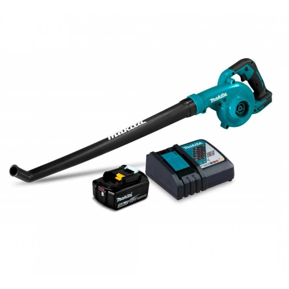 Soplador Inalámbrico 18V + Batería de 18V 3.0Ah + Cargador Rápido Simple Makita DUB186RF