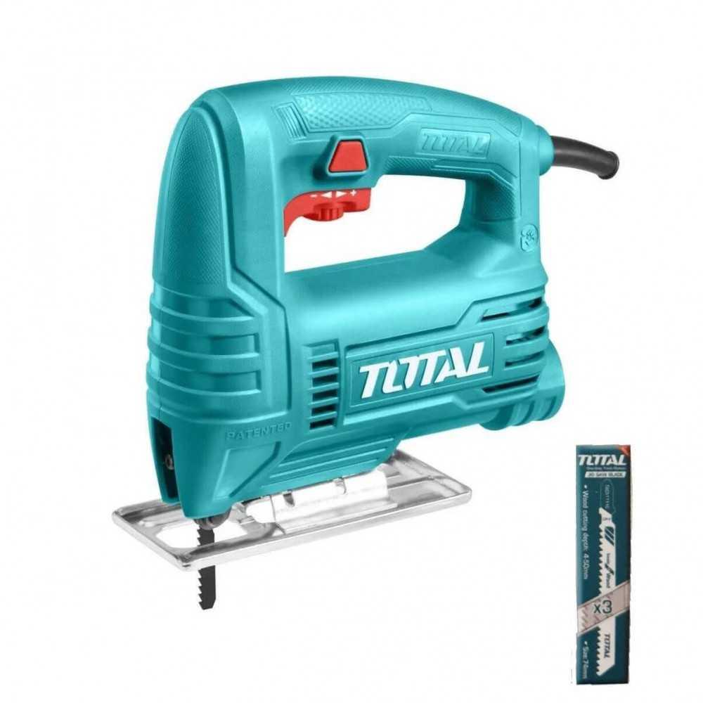Sierra Caladora 400W + 3pzas hoja sierra caladora Total Tools TS204556