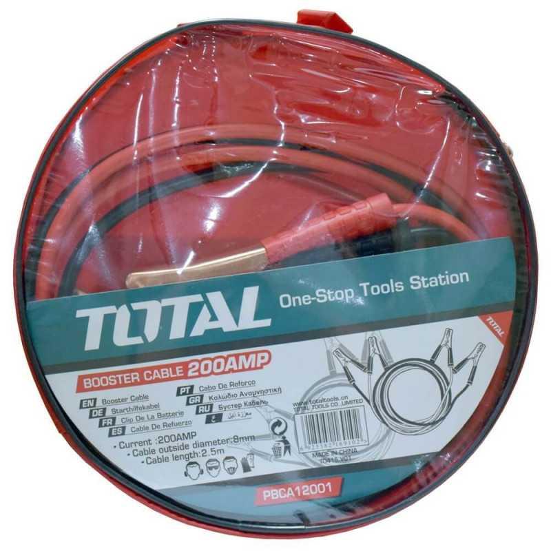 Cables para Hacer Puente 200 Amp Total Tools PBCA12001