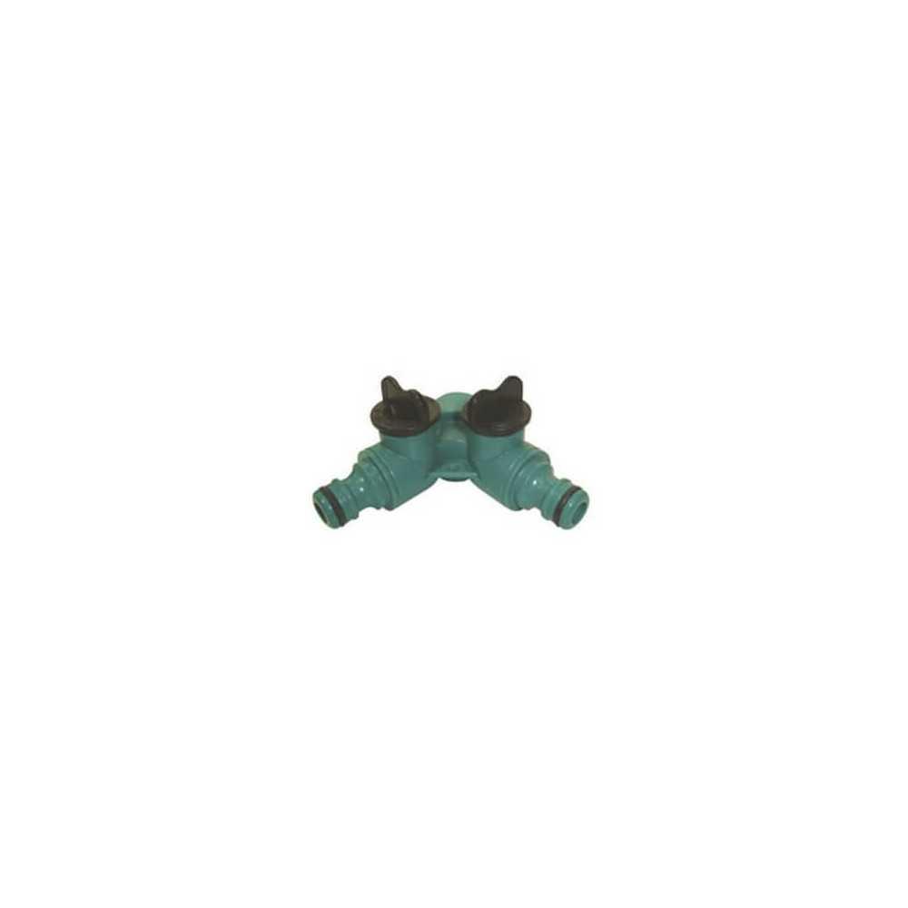 Acople Llave Con 2 Salidas Plasticas K6D Green Season 300942