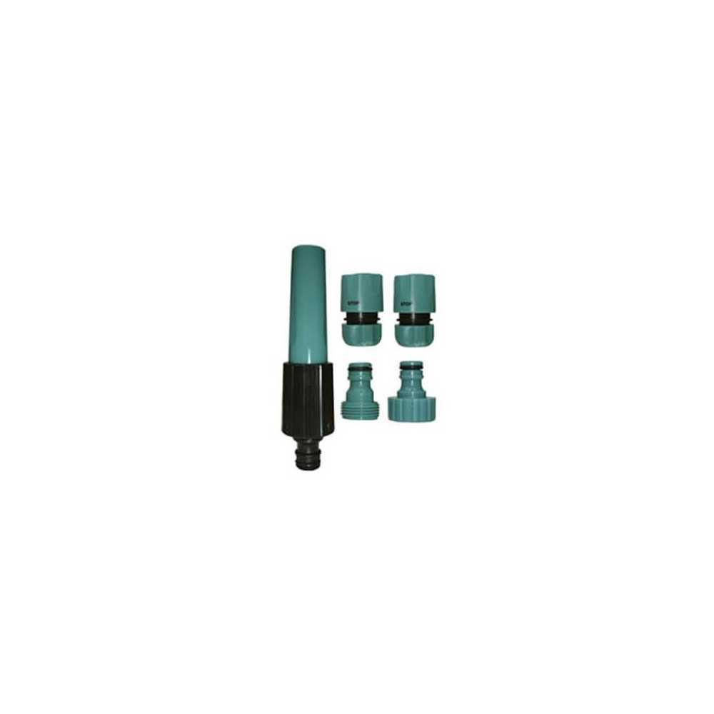 Kit para Manguera Pitón de riego + Adaptadores y Conectores K42 5 pzs Green Season 300987
