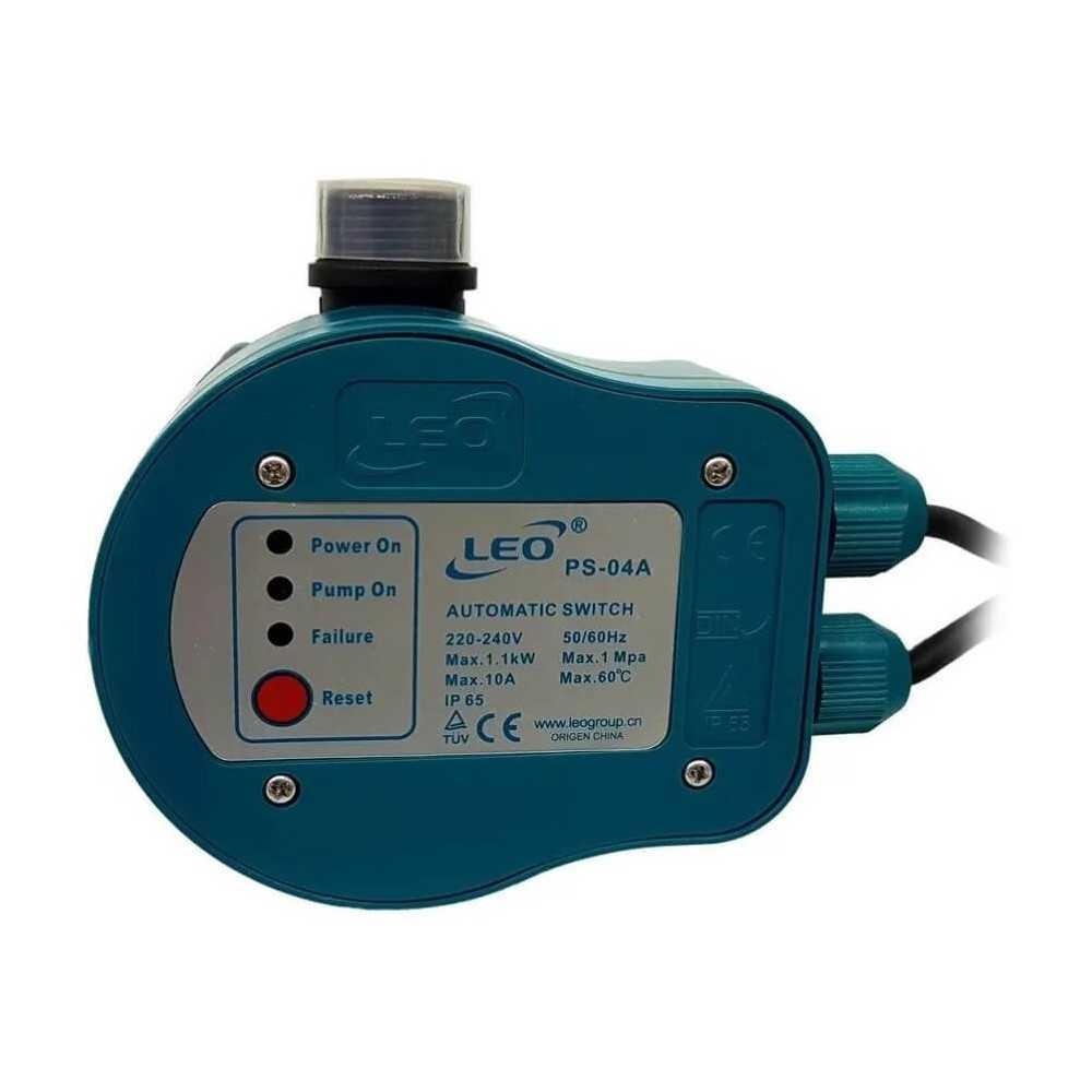 Control Eléctrico de Bomba 10A 220V MAX 2HP PS-04A Leo 104844