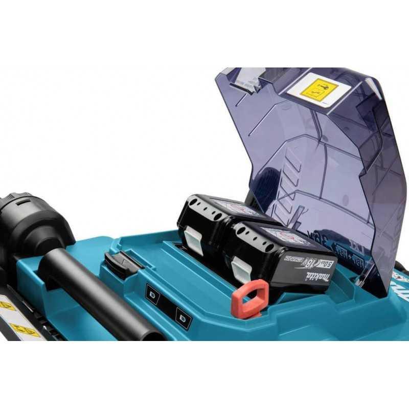 """Cortadora de Pasto Inalámbrica 430mm (17"""") + 2 Baterías 18V 5.0Ah + Cargador Rápido Doble Makita DLM432PT2"""