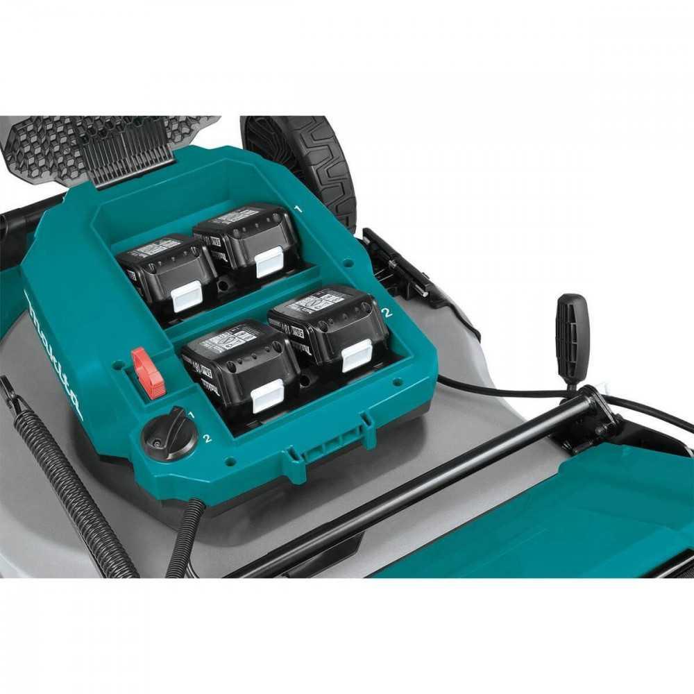 """Cortadora de Pasto Inalámbrica 534 mm (21"""") + 4 Baterías 18V 5.0Ah + Cargador Rápido Doble Makita DLM532PT4"""