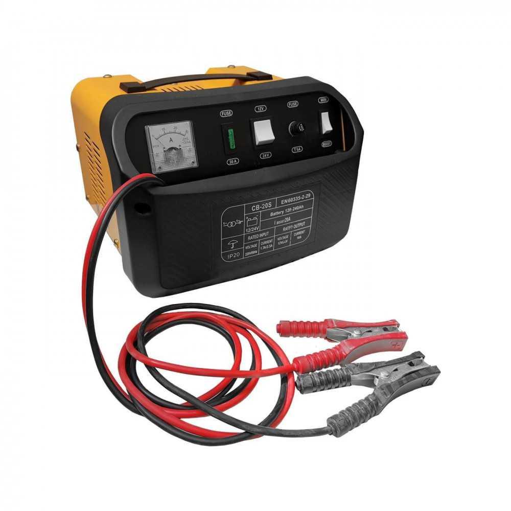 Cargador de Batería 12/24V 220V 60-200 Ah CB-20S Krafter 4459000000020