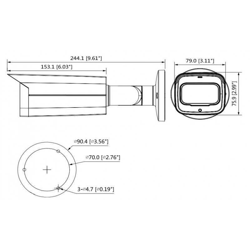 Cámara de Seguridad Bullet 80m 5MP HDCVI HFW2501TN-Z-A Dahua 1201172230