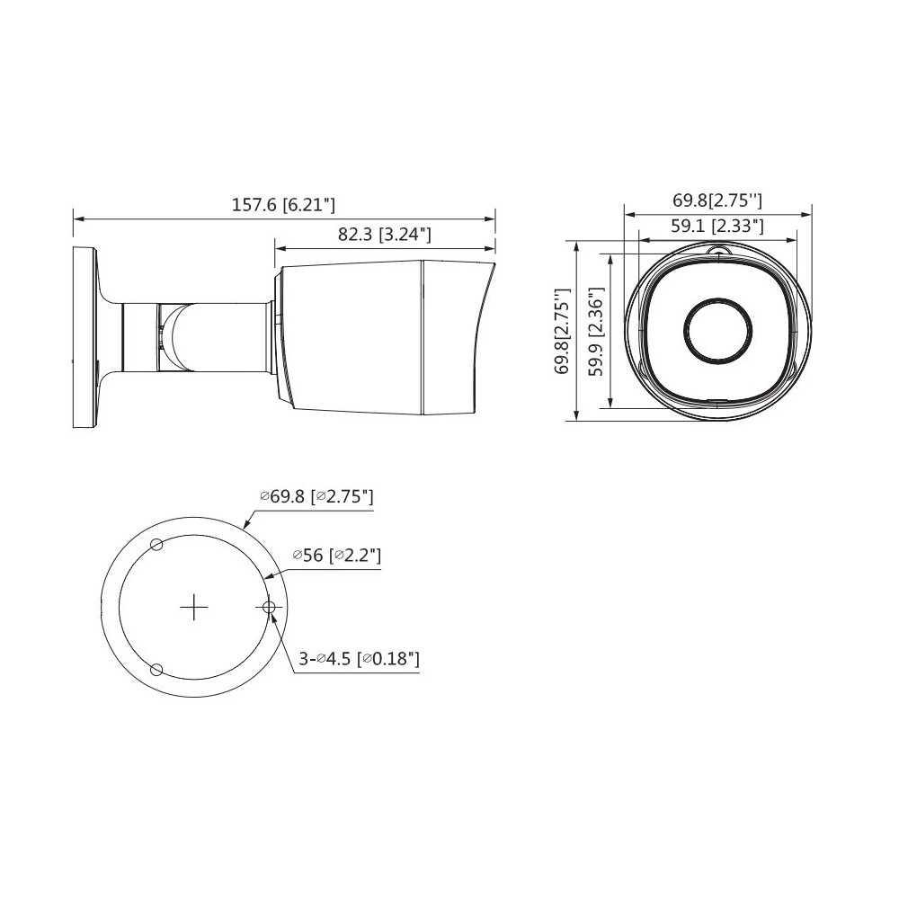 Cámara de Seguridad Bullet HD 20m 4MP HDCVI B2A41 Dahua 1201172300