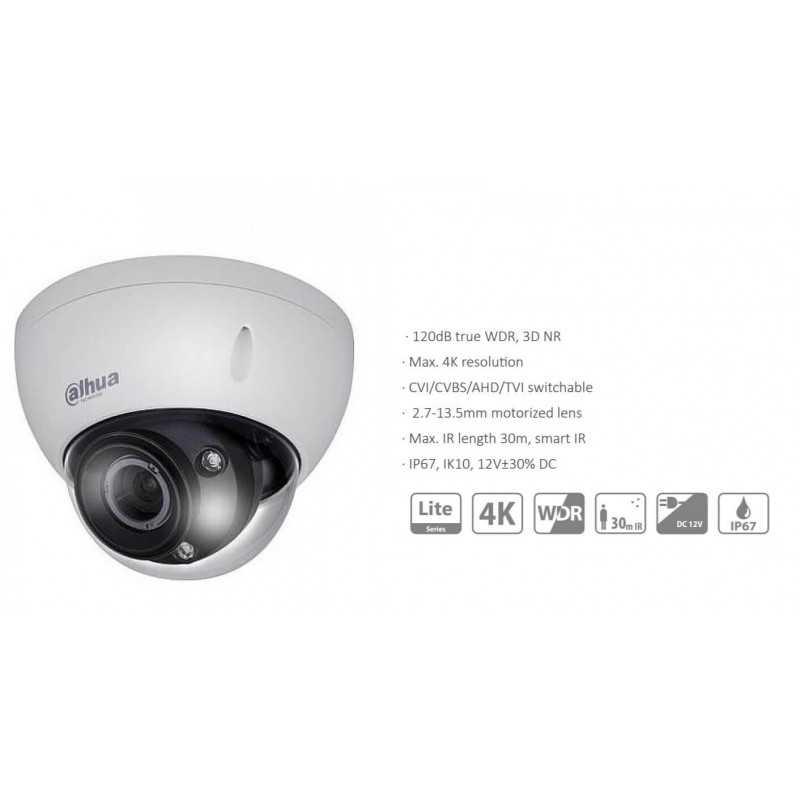 Cámara de Seguridad Domo 4K HD 30m 8MP HDCVI HDBW1801R-Z Dahua 1201172314