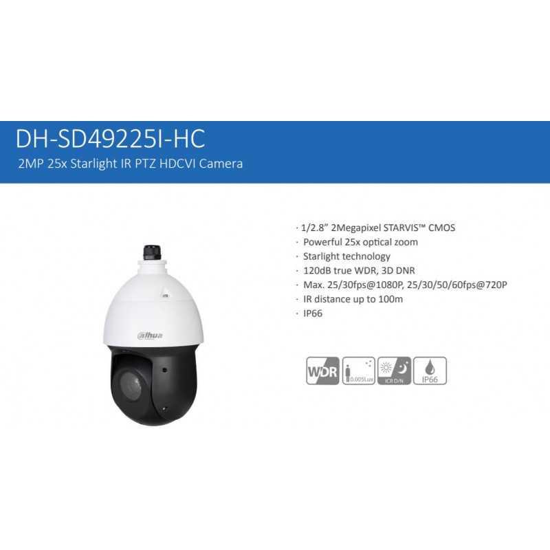 Cámara de Seguridad Domo PTZ HDCVI 100m 2MP SD49225I-HC Dahua 1201172136