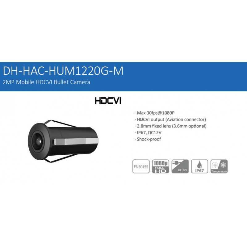 Cámara de Seguridad Móvil HD 2MP HAC-HUM1220GN-M-0280B Dahua 1201172169
