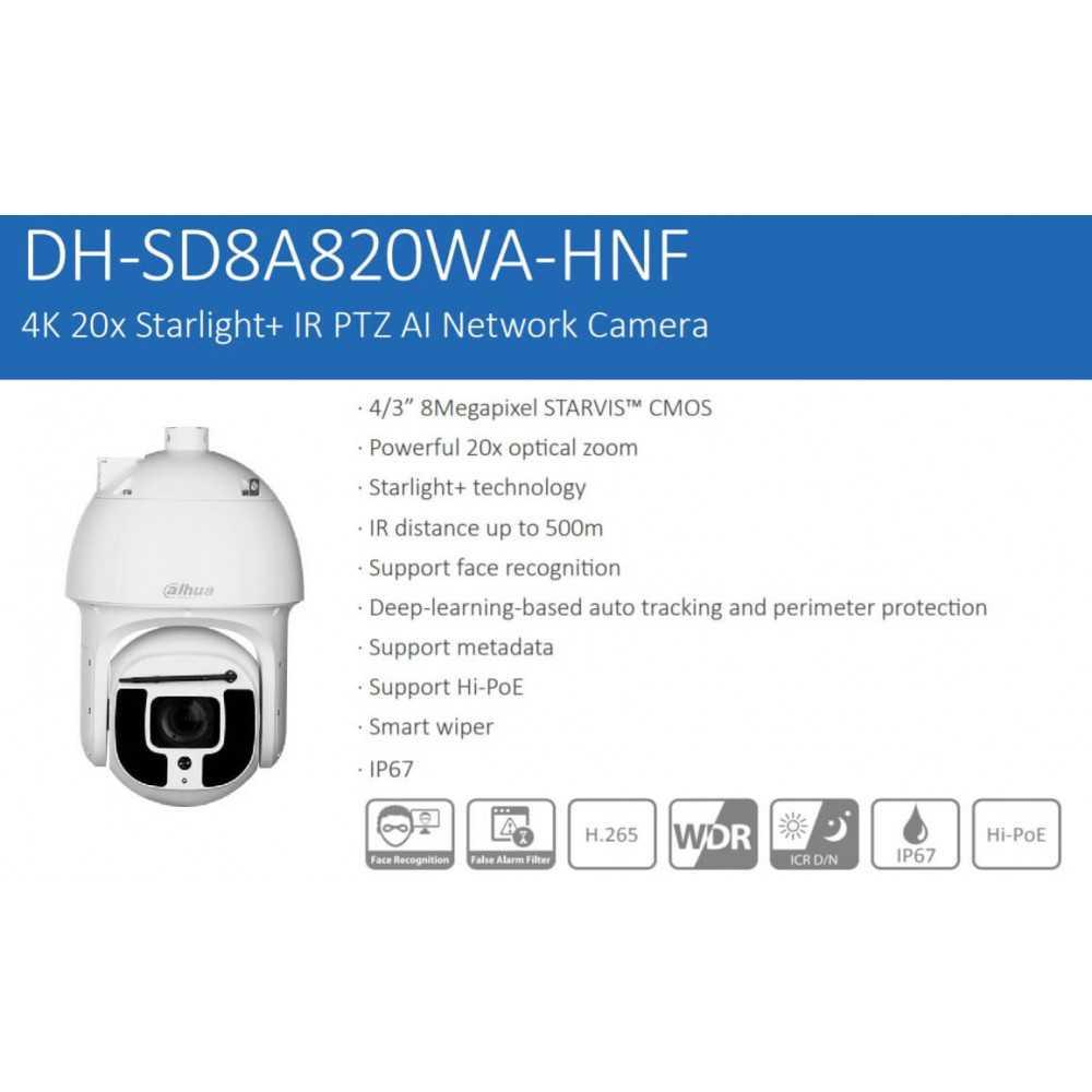 Cámara de Seguridad PTZ IR AI 500m 2MP SD8A240WA-HNF Dahua 1201172322