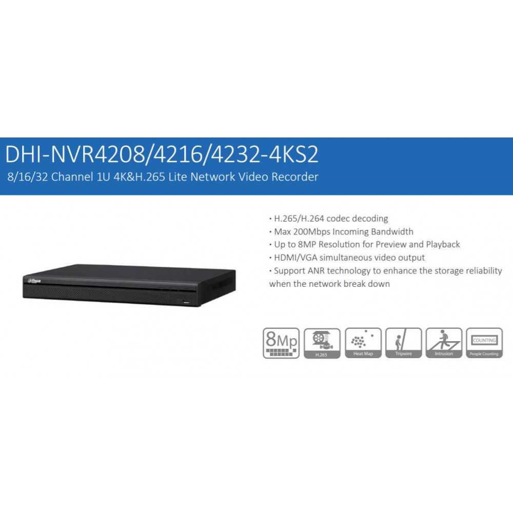 NVR Grabador de 32 Canales 4K NVR4232-4K-S2 sin HDD Dahua 120217295