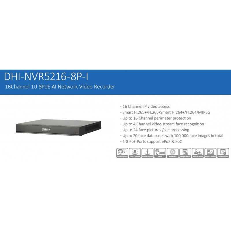 NVR Grabador 16 Canales Poe NVR5216-8P-I Dahua 1202172154