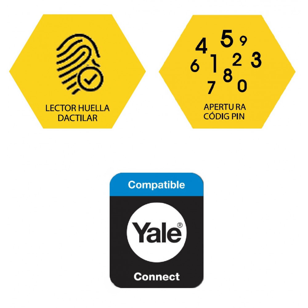 Pack Cerradura Digital YMF40 + ZigBee + Hub Yale 147250