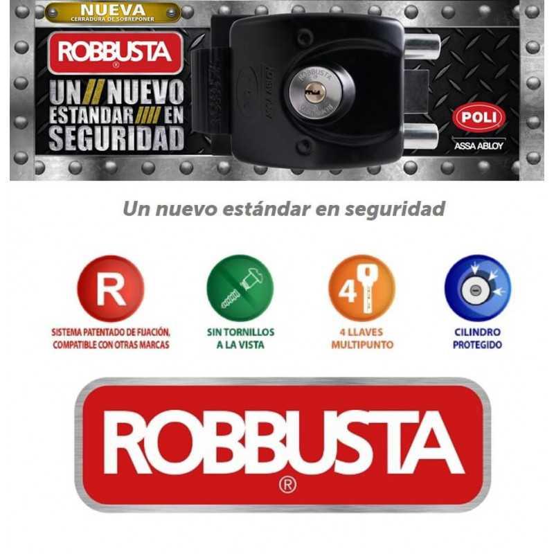 Cerradura Sobreponer de Alta Seguridad Robbusta Poli 137471