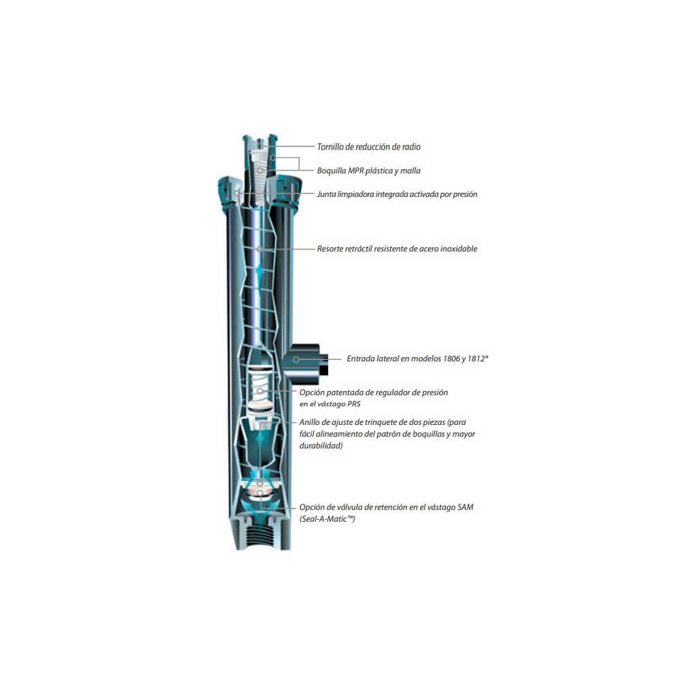 "Difusor - Base Pop Up para Aspersor 4"" (10 cm) Cuerpo 1804 Rain Bird 304015"