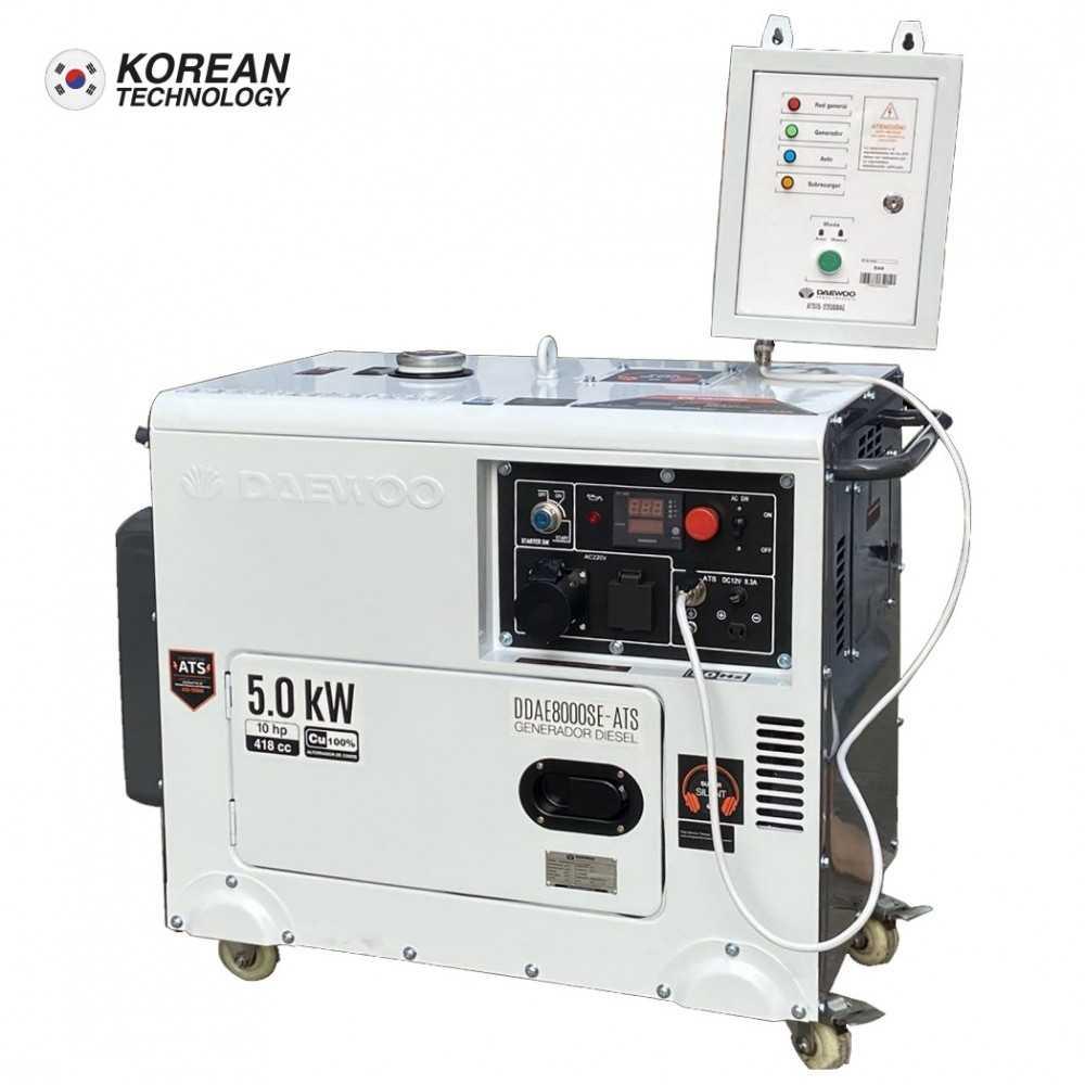 Generador Eléctrico Diesel con ATS 5.0 Kw Partida Eléctrica DDAE8000SE-ATS Daewoo 7799034119637