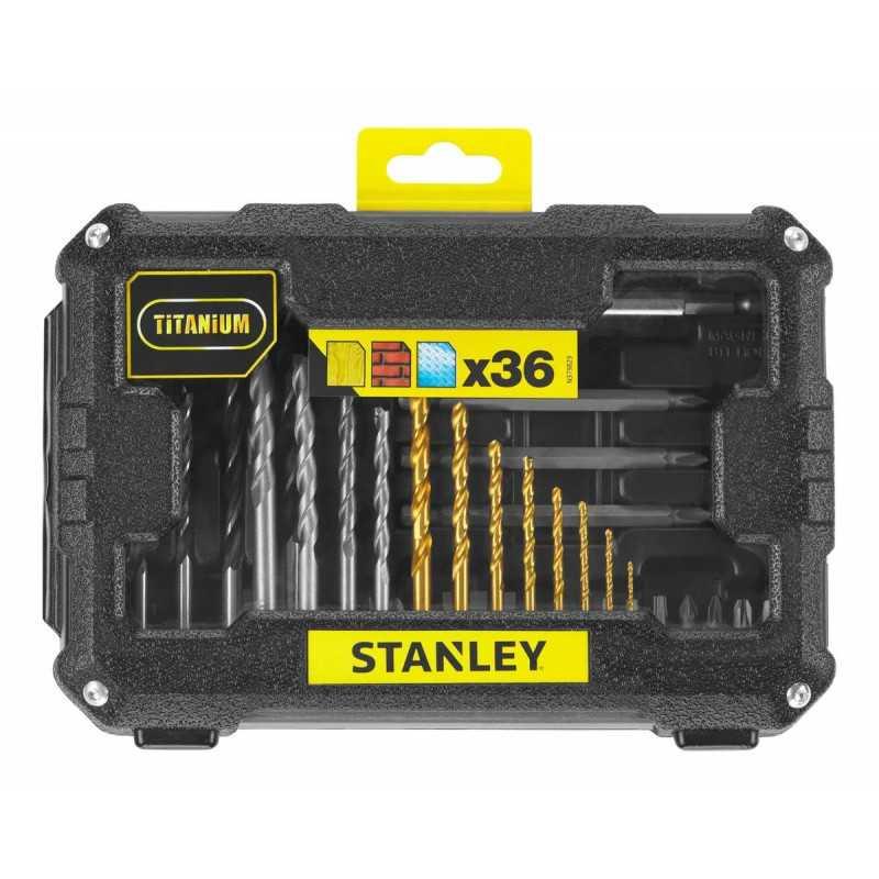 Set Brocas Perforar Y Atornillar 36 Piezas Stanley STA7222-XJ