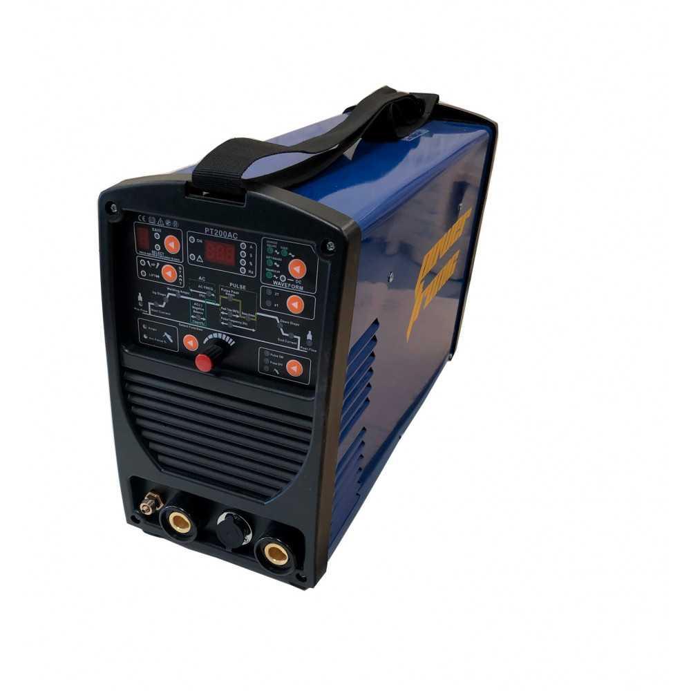 Soldadora Inverter 200Amp TIG AC/DC CON HF/MMA Power Tronic PT200AC